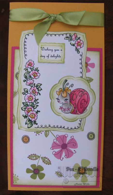 snail & flower scroll border