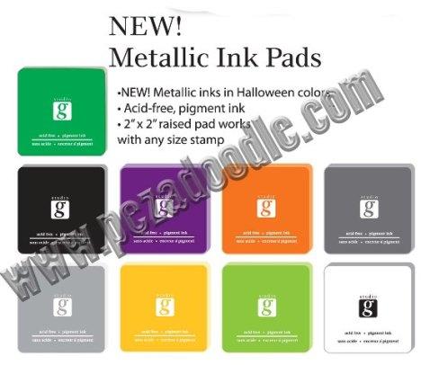 Halloween METALLIC ink pads
