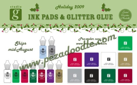 Although they are together in the picture the ink set and the glitter glue set are listed separately on the website!