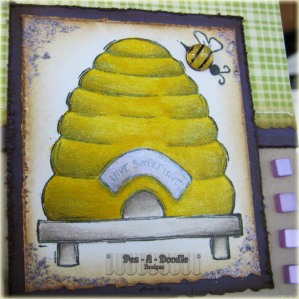 tues am sketches close up bee hive