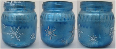 blue snowflake jar