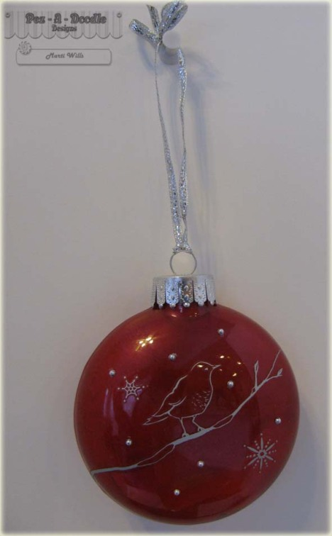 red bird ornament